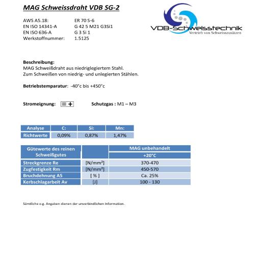 Schweissdraht Stahl Sg 2 Kaufen Vdb Schweisstechnik Com 21 99